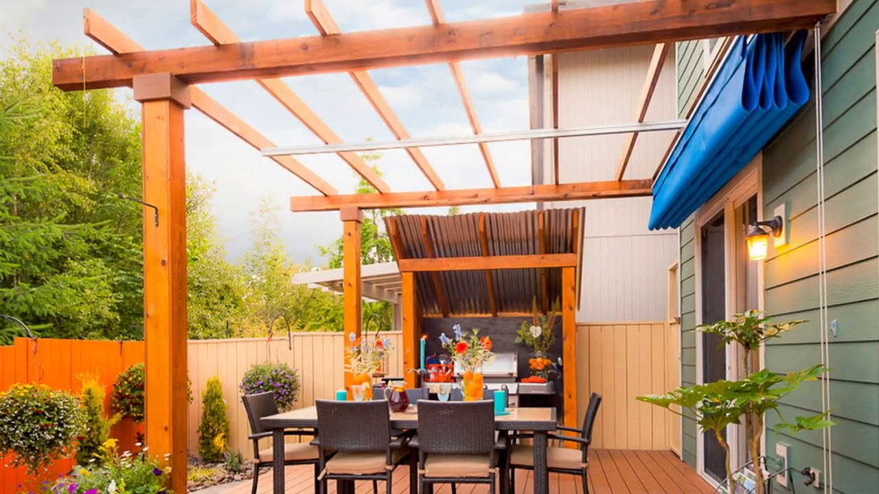 Retractable Patio Awning At Home Ideas intended for 10 Genius Ways How to Build Backyard Awnings Ideas