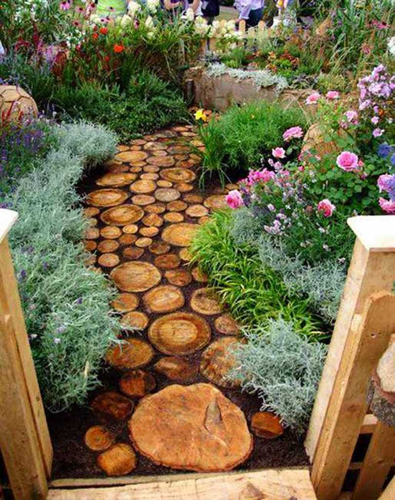Rustic Backyard Landscape Ideas With Wooden Log Walkways And throughout Rustic Backyard Ideas