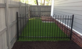 Side Yard Solution Pet Friendly X Grass Artificial Turf Dog Run throughout 10 Smart Initiatives of How to Makeover Backyard Dog Run Ideas