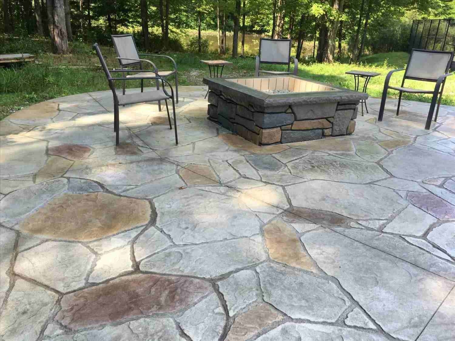 Simple Backyard Stamped Concrete Patio Ideas Design Idea regarding Simple Backyard Patio Ideas
