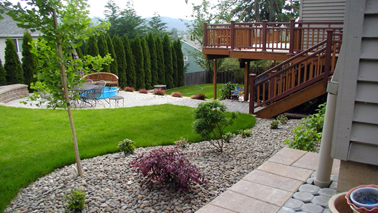 Simple Small Backyard Landscaping Ideas within Simple Backyard Landscape Design