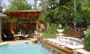 Small Backyard Pool Landscaping Ideas Home Decorating inside Backyard Pool Landscape Ideas