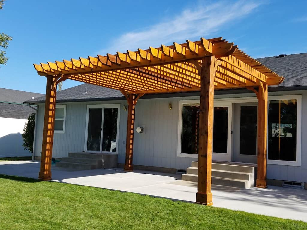 Solid Wood Patio Cover Pergola Kits Pergola Depot with regard to Pergola Backyard Ideas
