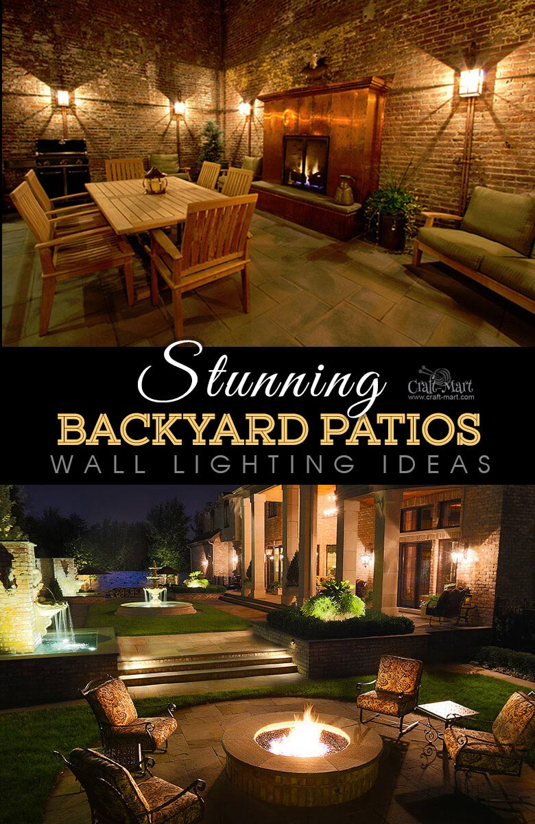 Stunning Backyard Patio Designs And Lighting Ideas Craft Mart throughout Backyard Lights Ideas