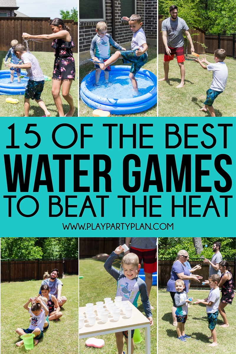 The Ultimate List Of Water Games For Kids And Adults Play Party Plan in 12 Clever Tricks of How to Craft Backyard Water Party Ideas