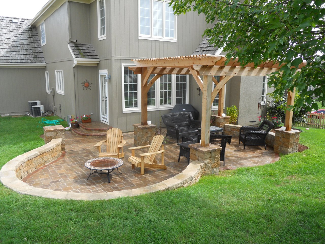 They Design Awesome Pergola Patio Ideas Outdoor Living in Simple Backyard Patio Ideas