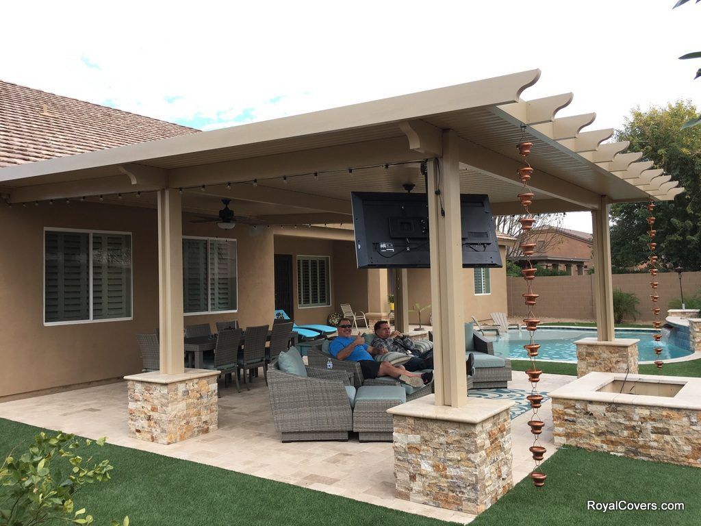 Trend Of Outdoor Covered Patio Ideas And Tv For Outside in 11 Clever Tricks of How to Craft Backyard Covered Patio Ideas