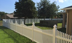 Vinyl Fence Secure Fence And Rail in 10 Clever Initiatives of How to Make Backyard Vinyl Fence