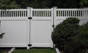 Vinyl Fences With A Gate Vinyl Fence With Essex Topper regarding 10 Clever Initiatives of How to Make Backyard Vinyl Fence