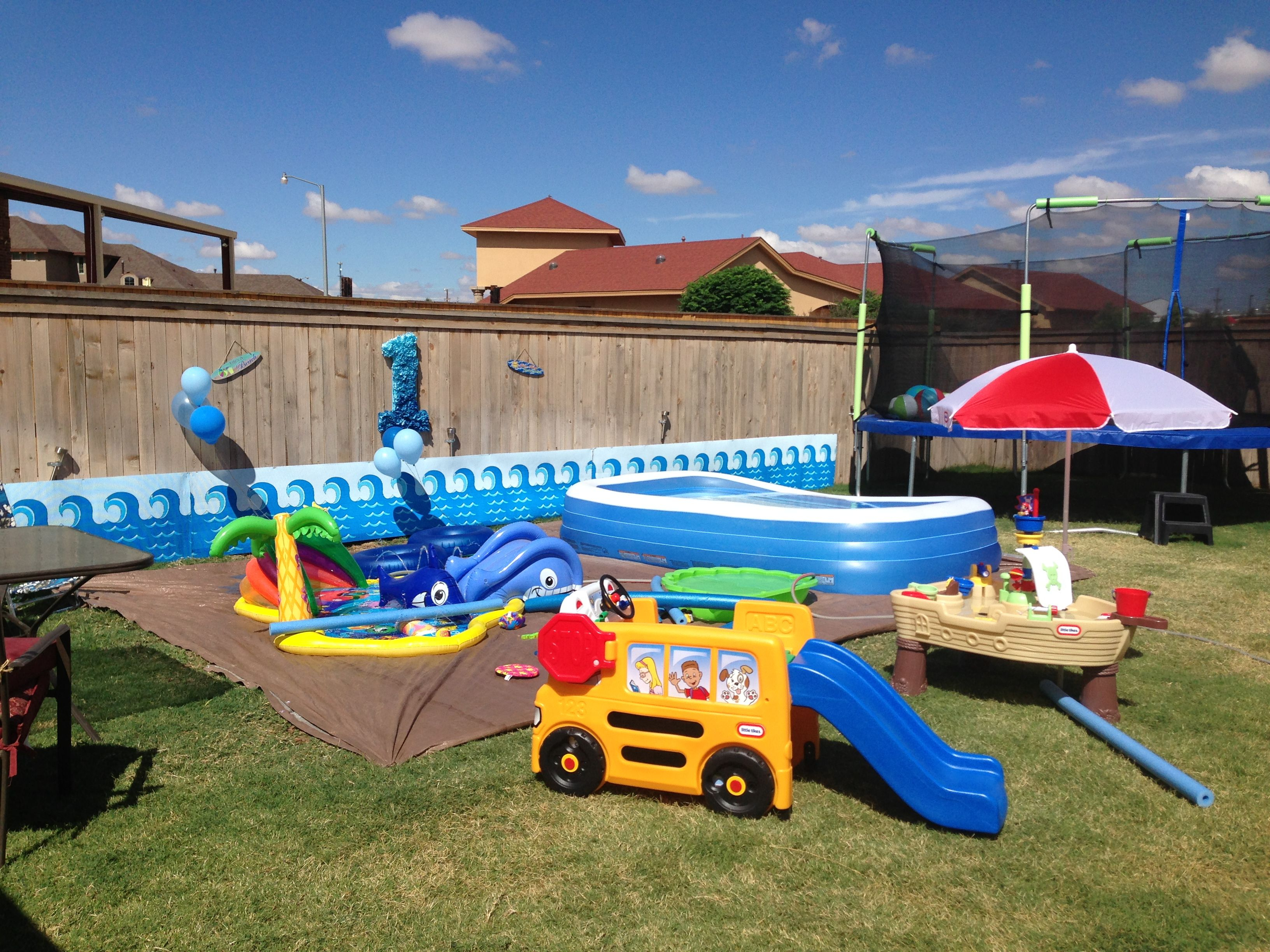 Water Party Maddox Is One In 2019 Backyard Birthday Parties inside Backyard Water Party Ideas
