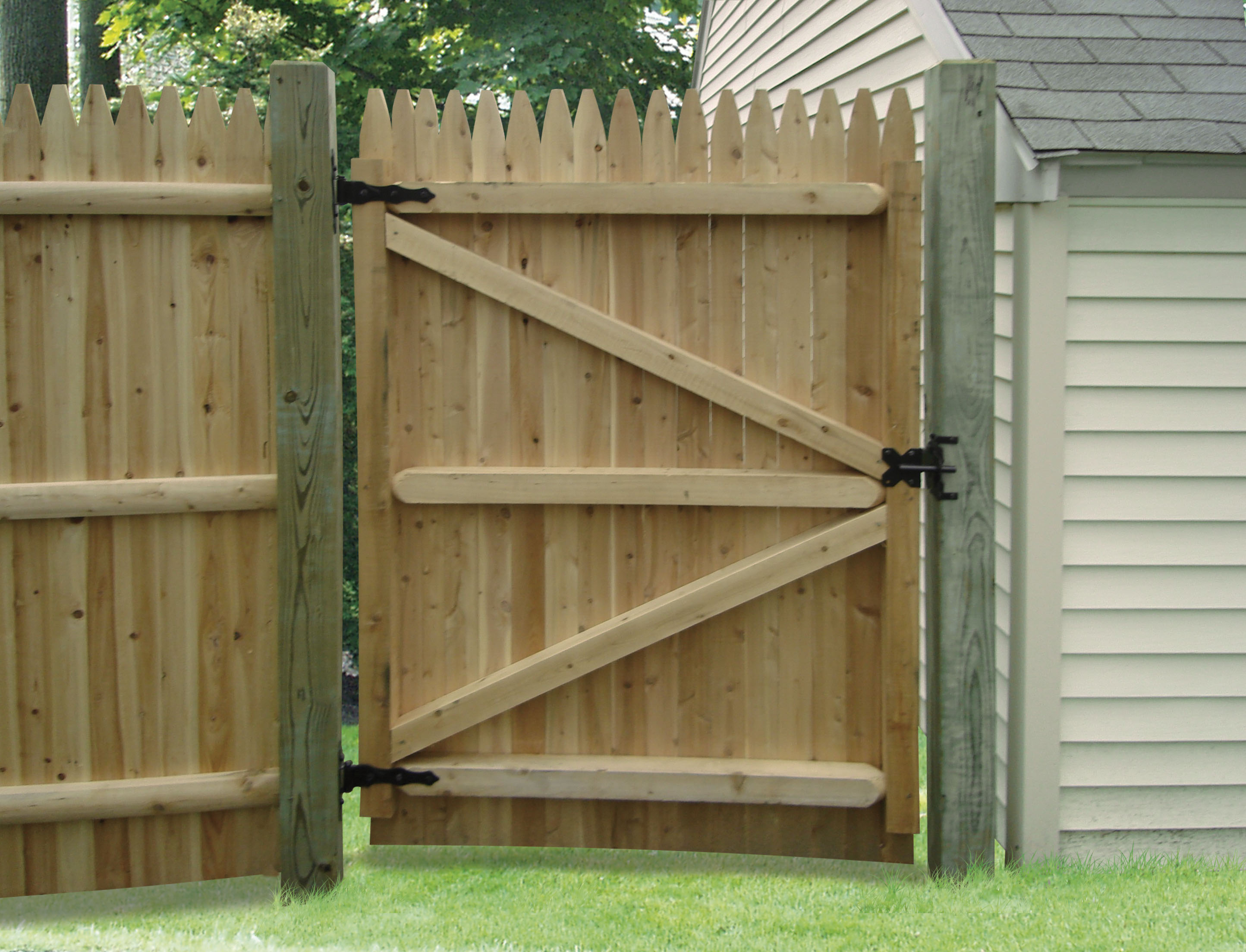 Wood Fence Gate Ideas Outdoor Decorations Wood Fence intended for Backyard Fence Door
