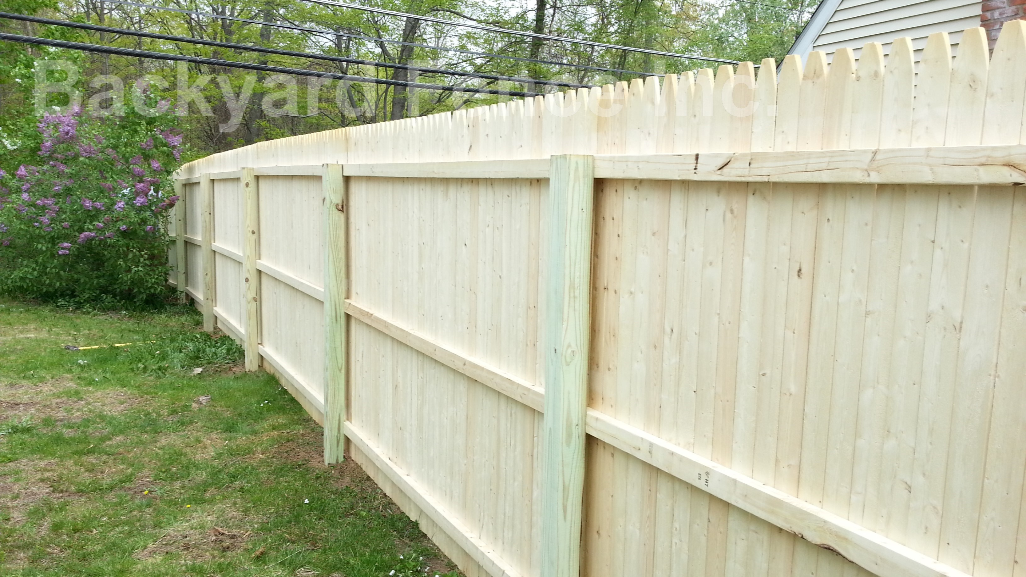 Wood Fencing with regard to Backyard Fence Company