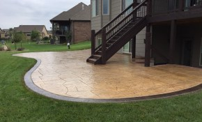 Youre Most Backyard Stamped Concrete Patio Ideas Design Idea And intended for 11 Genius Concepts of How to Improve Concrete Backyard Landscaping