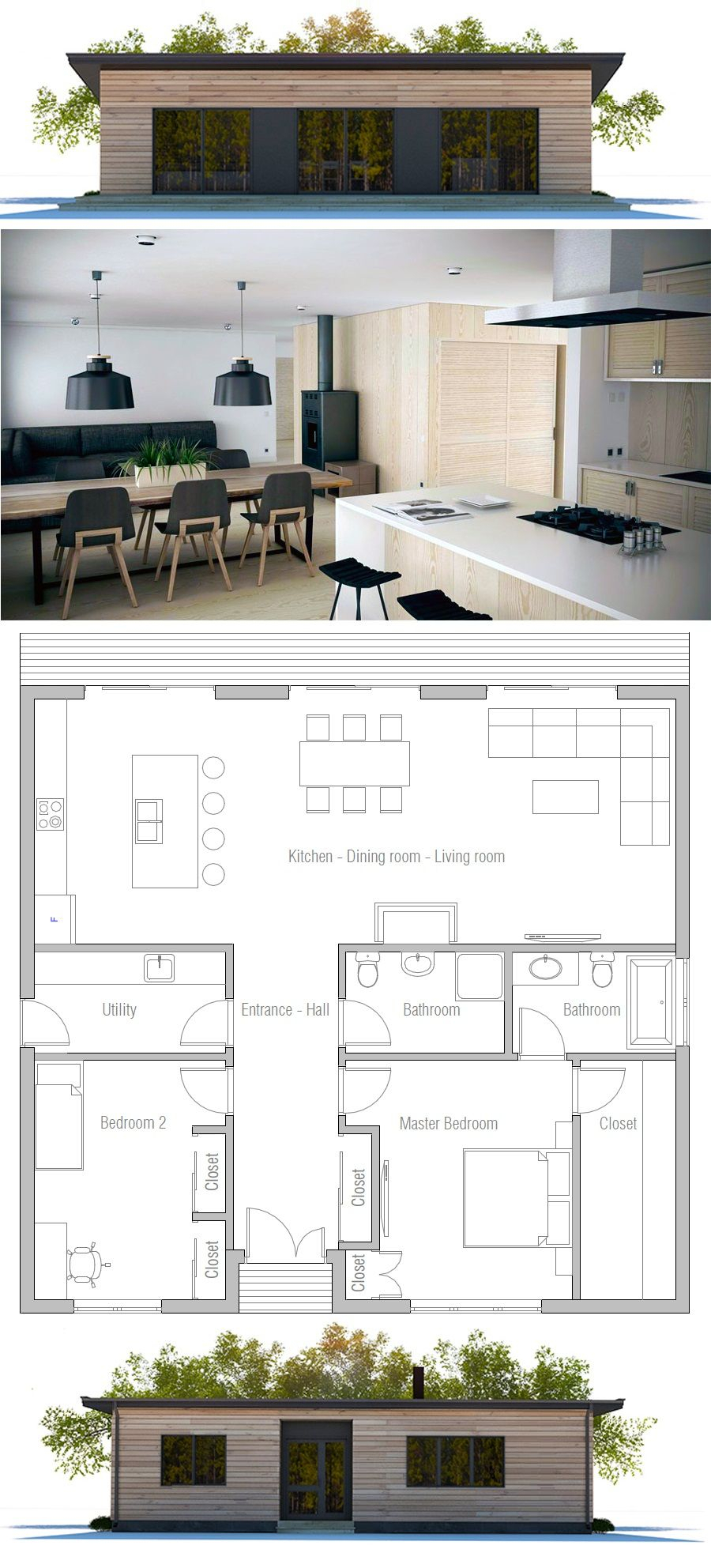 12 Some Of The Coolest Tricks Of How To Craft Modern Two inside 11 Some of the Coolest Ideas How to Make Modern 2 Bedroom House Plans