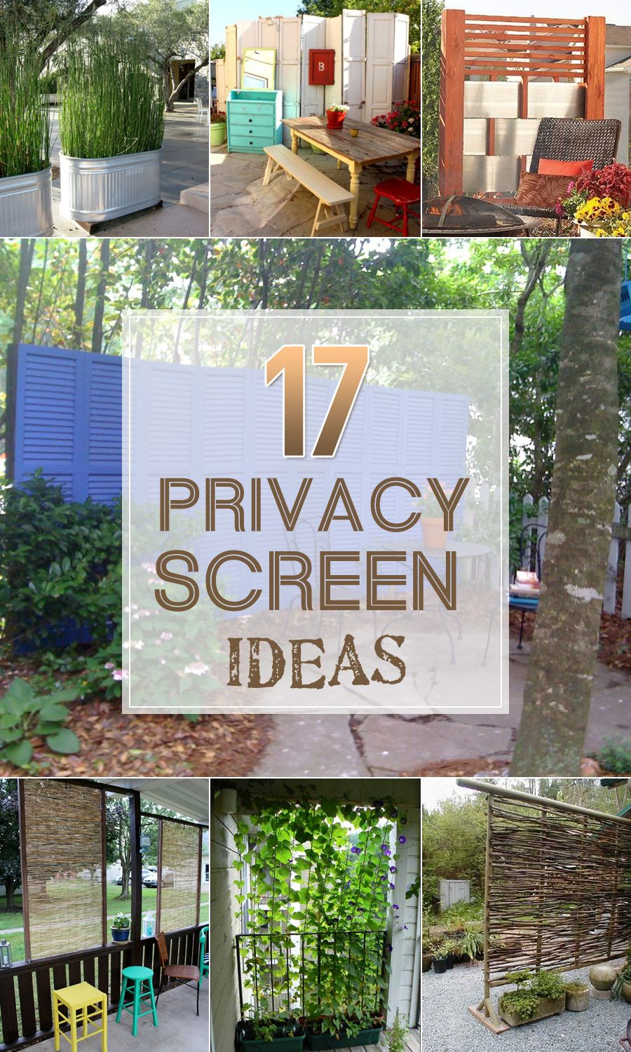 17 Privacy Screen Ideas Thatll Keep Your Neighbors From with The Most Amazing Privacy Screen Ideas for Backyard intended for Residence