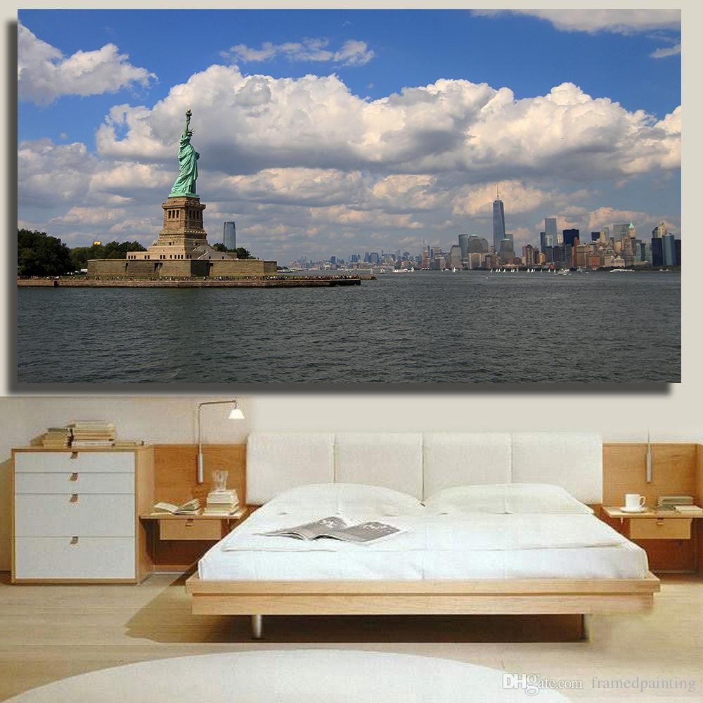 2019 Canvas Painting Modern Art Statue Of Liberty Harbor New York City Wall Pictures For Bedroom Home Decor No Frame From Framedpainting 2773 within Modern Art For Bedroom