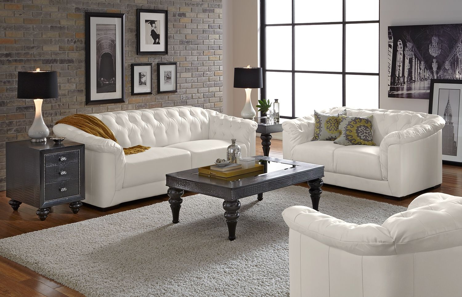21 Living Room Tufted Leather Sofa Designs Ideas For The intended for 12 Clever Designs of How to Improve White Leather Living Room Sets