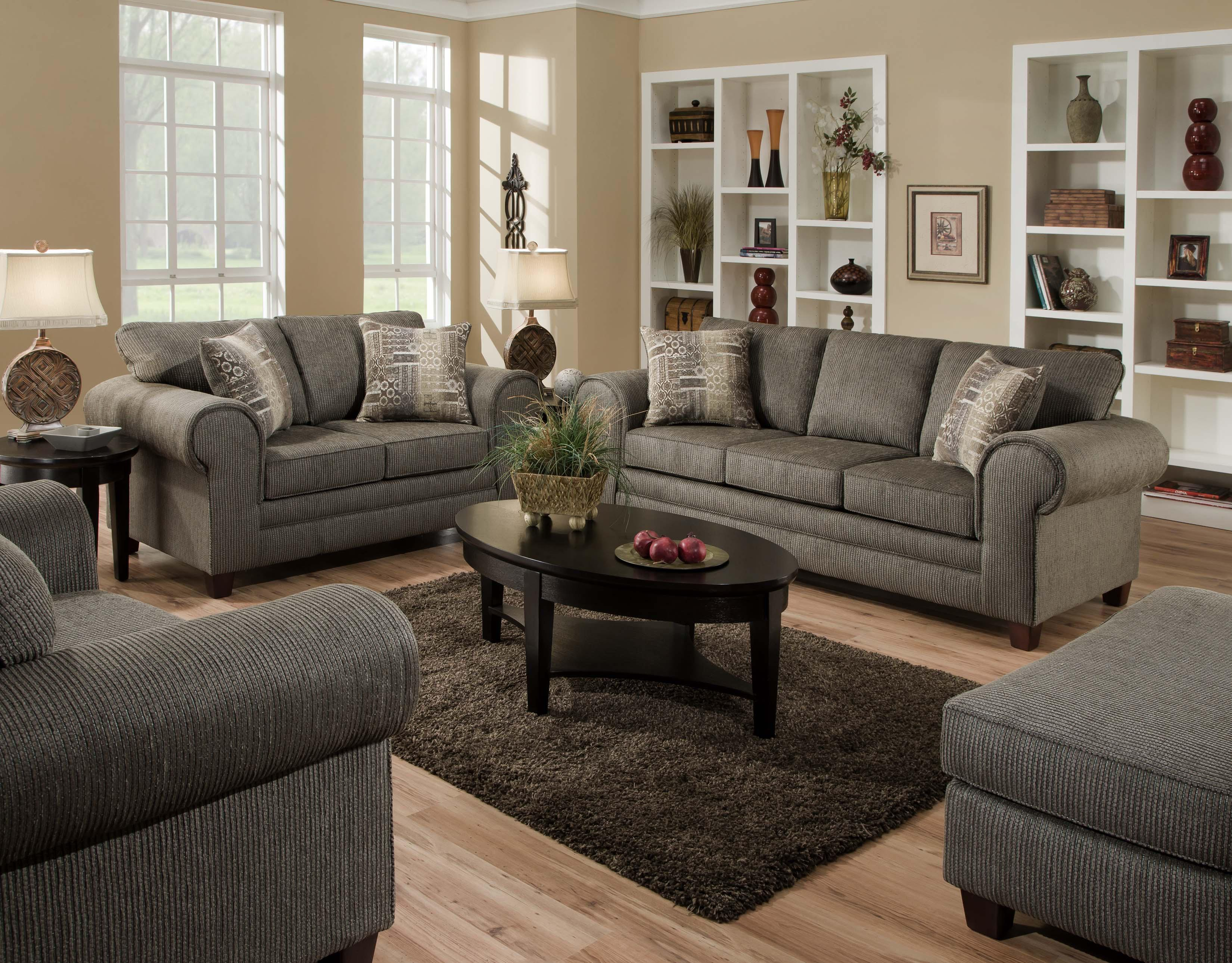 3750 Stationary Living Room Group American Furniture At Rooms For Less regarding Bedroom And Living Room Sets