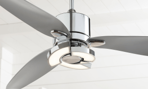 56 Possini Euro Design Modern Ceiling Fan With Light Led Remote Control Chrome Curved Blades For Living Room Kitchen Bedroom for Modern Bedroom Ceiling Fans