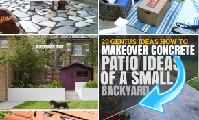 20 IDEAS How to Make Concrete Patio Ideas for Small Backyards