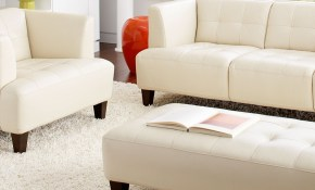 Alessia Leather Sofa Living Room Furniture Sets Pieces for All White Living Room Set