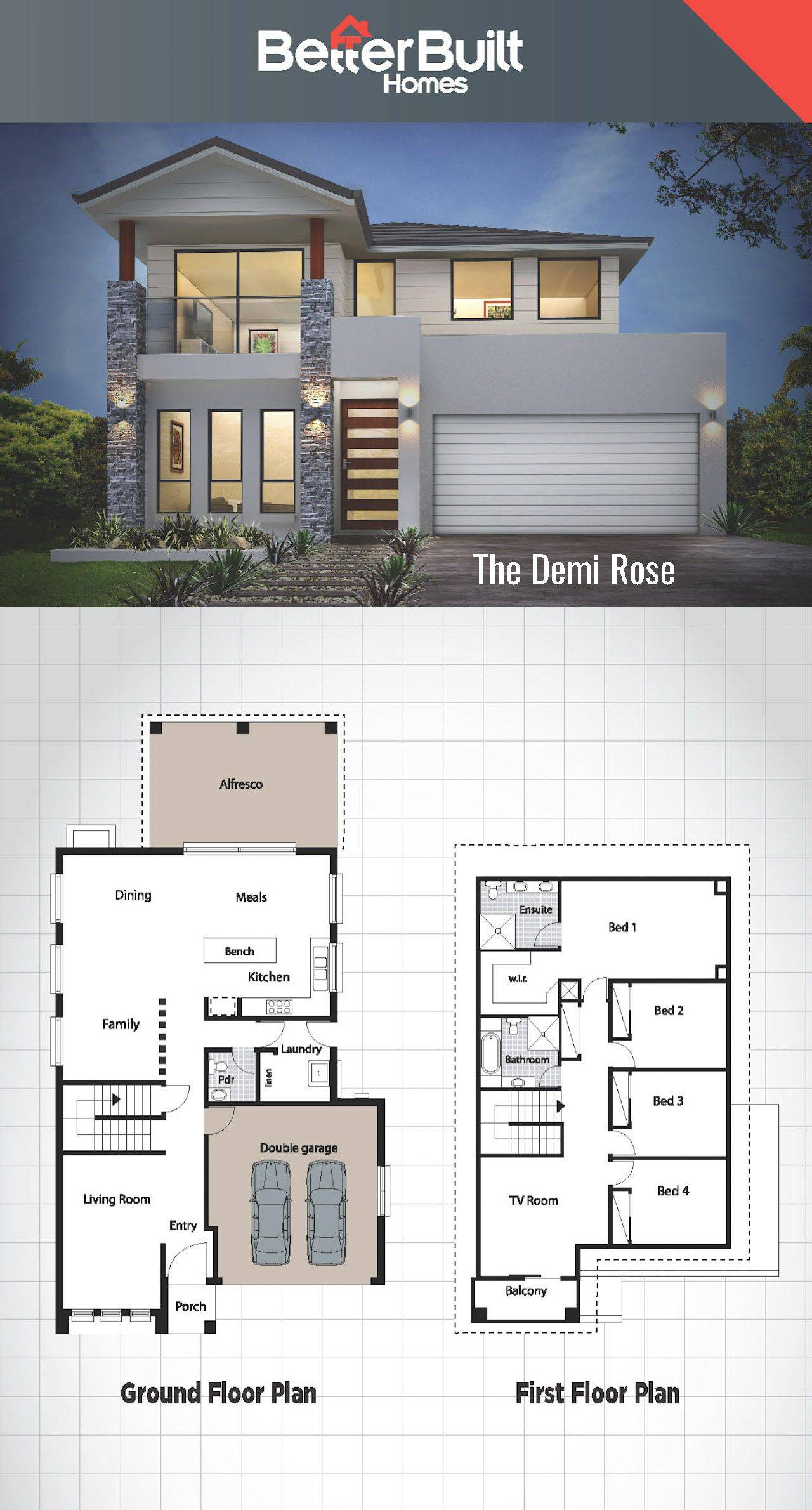Architectures Wonderful Double Bedroom House Plans East for Modern One Bedroom House Plans