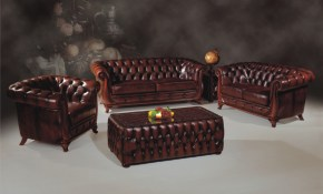 B261 Full Leather Living Room Set in Full Living Room Sets