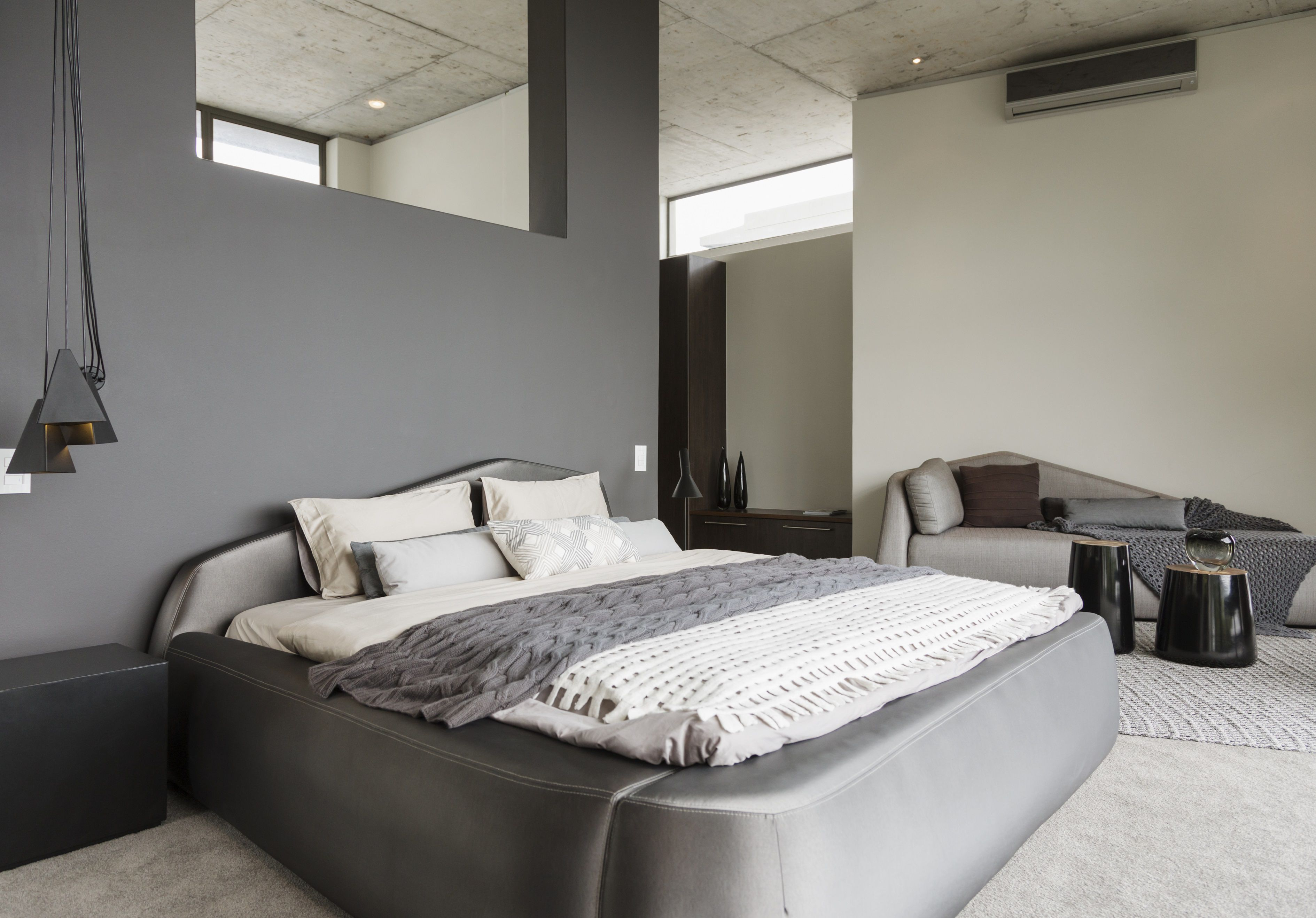 Bold Touches In A Gray Bedroom in 12 Clever Ways How to Upgrade Modern Gray Bedroom