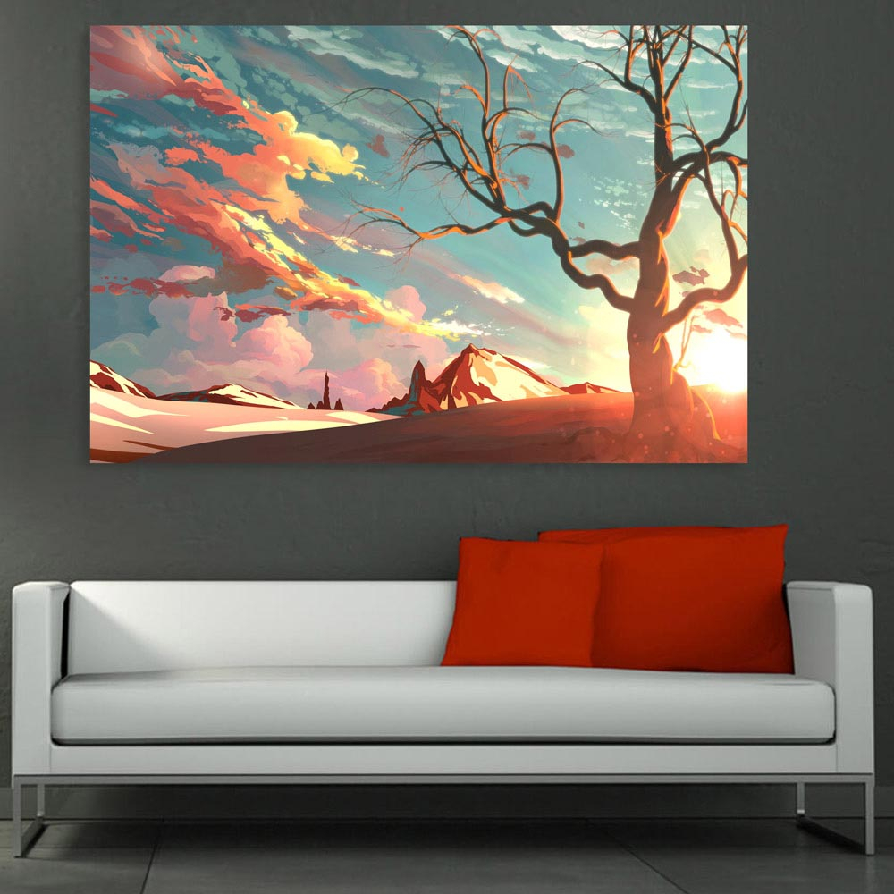 Canvas Painting Beautiful Nature Modern Art Wall Painting For Living Room Bedroom Office Hotels Drawing Room 91cm X 61cm with regard to Modern Art For Bedroom