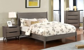 Carson Carrington Bodo Grey 3 Piece Mid Century Modern Bedroom Set with regard to 11 Genius Ways How to Build Mid Century Modern Bedroom Suite