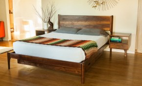 Classic Modern Bed With Storage And Attached Night Stands with regard to 12 Some of the Coolest Tricks of How to Build Danish Modern Bedroom Set