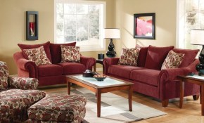 Corinthian Cebu Sofa Wine 2833s Conns Home Plus throughout Conns Living Room Sets