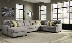 Cresson Contemporary 4 Piece Sectional With Chaise Armless Sofa Benchcraft Ashley At Royal Furniture with regard to 4 Piece Leather Living Room Set