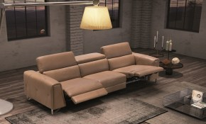 Dark Color Living Room Set With Reclining System within Italian Living Room Sets