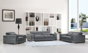 Divanitalia Ferrara Luxury Italian Leather Upholstered Complete 3 Piece Living Room Sofa Set with 15 Some of the Coolest Initiatives of How to Make Living Room Complete Sets