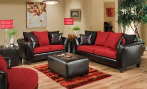 Flash Furniture Riverstone Victory Lane Cardinal Microfiber Black Red Living Room Set within 14 Genius Tricks of How to Build Black And Red Living Room Set