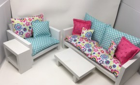 Free Shipping Living Room Set For 18 Dolls Fits The with 18 Inch Doll Living Room Set