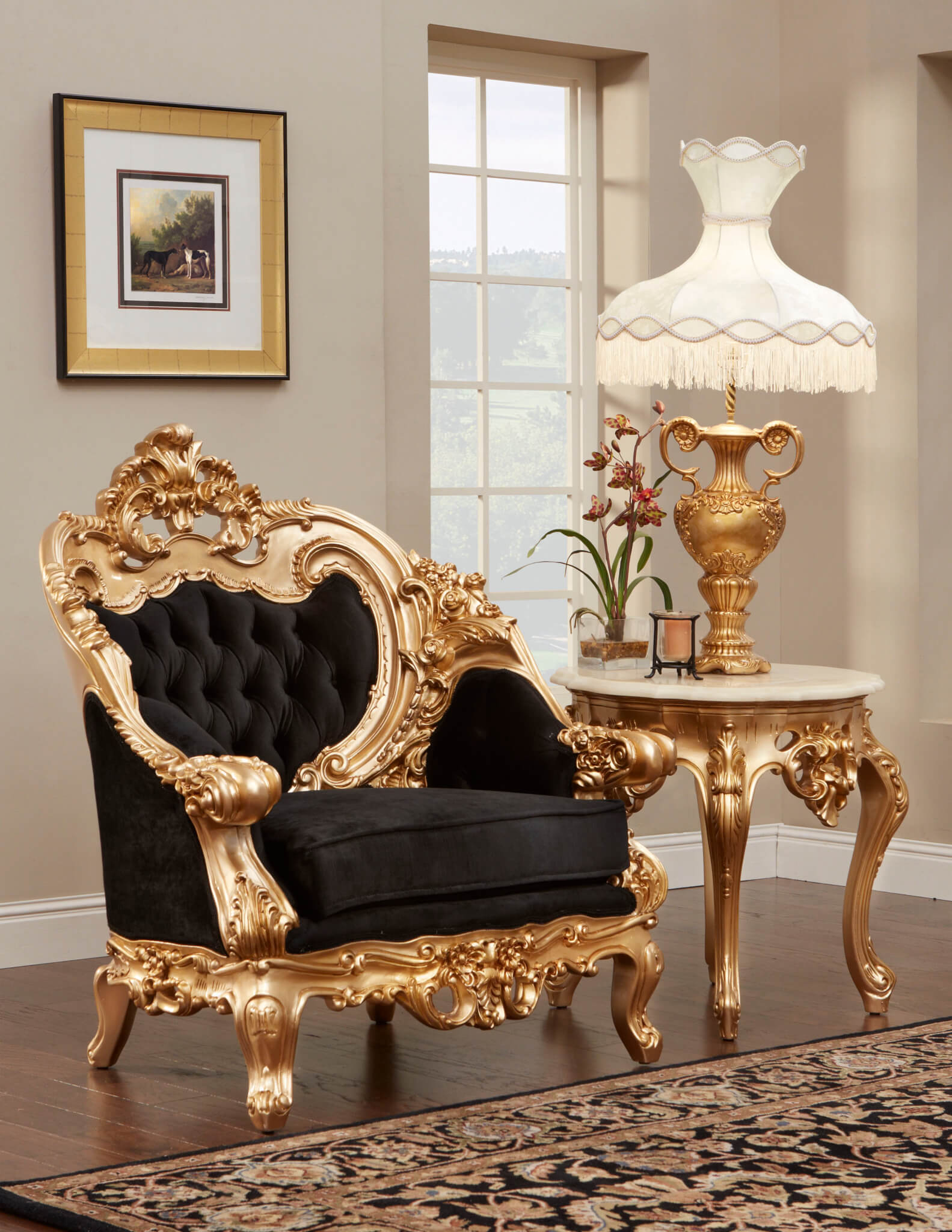 French Gold Leaf Living Room Set with regard to French Provincial Living Room Set