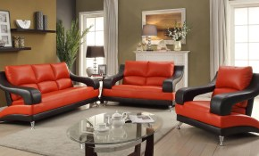 G249 Modern Living Room Set Red And Black with regard to Red And Black Living Room Set