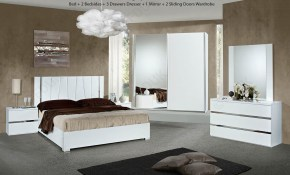 H2o Design Eva Italian Bedroom Set With 2 Sliding Door Wardrobe pertaining to Modern Italian Bedroom Sets