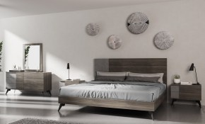 Ivy Bronx Bayport Italian Modern Platform 5 Piece Bedroom within Italian Modern Bedroom Sets