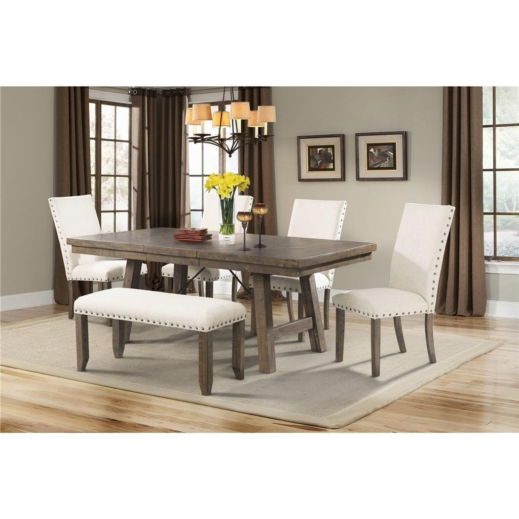 Jax Rustic Dining Set With Bench Elements International At Sam Levitz Furniture for 15 Some of the Coolest Designs of How to Build Rustic Living Room Sets