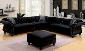 Jolanda Sectional Living Room Set Black with regard to 13 Clever Tricks of How to Improve Black Living Room Sets