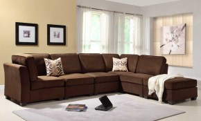 Living Room Attractive Dark Brown Microfiber Living Room intended for Moroccan Living Room Set