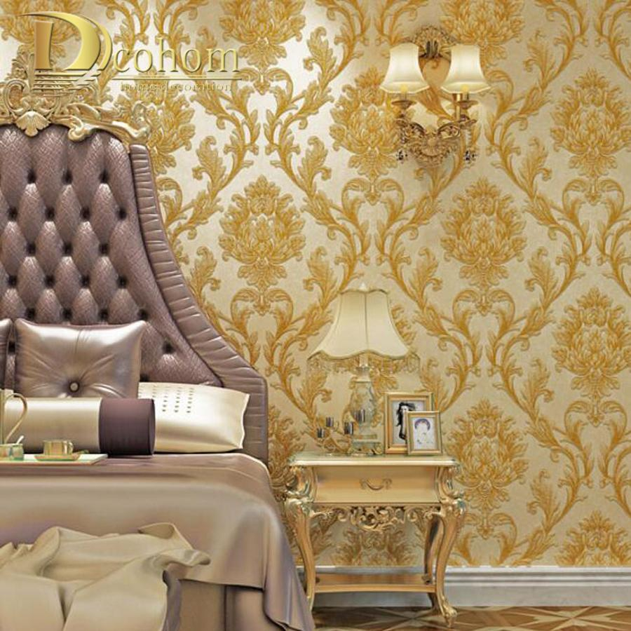 Luxury Simple European 3d Striped Damask Wallpaper For Walls Decor Modern Wall Paper Rolls For Bedroom Living Room Background Hd High Resolution with regard to 12 Clever Initiatives of How to Craft Modern Wallpaper Designs For Bedrooms