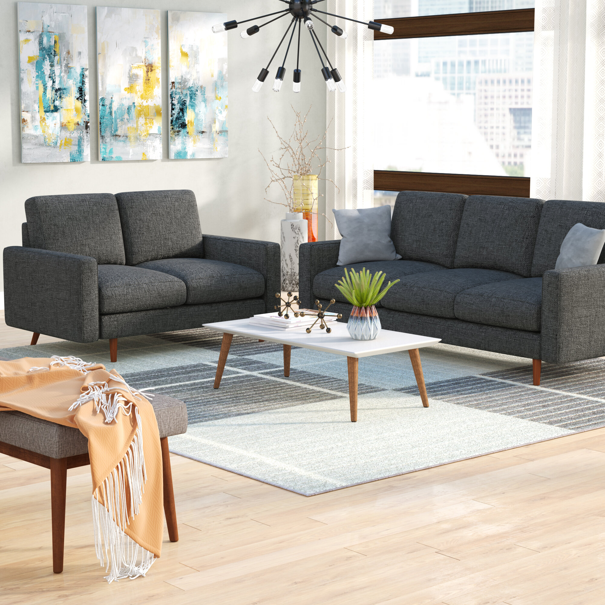 Macsen 2 Piece Living Room Set throughout 13 Clever Tricks of How to Improve Shop Living Room Sets
