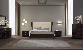 Modern Italian Bedroom Set In Beige Me01 571 for Modern Italian Bedroom Sets