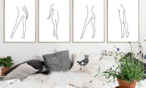 Modern Sexy Canvas Painting Realistic Woman Body Art Wall Postersprints Minimalist Line Drawing Bedroom Home Decoration Picture for 14 Some of the Coolest Ways How to Craft Sexy Modern Bedroom