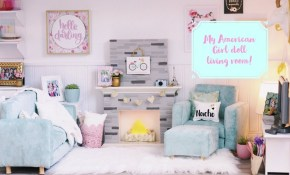 My American Girl Dollhouse Living Room Tour intended for 14 Genius Tricks of How to Build 18 Inch Doll Living Room Set