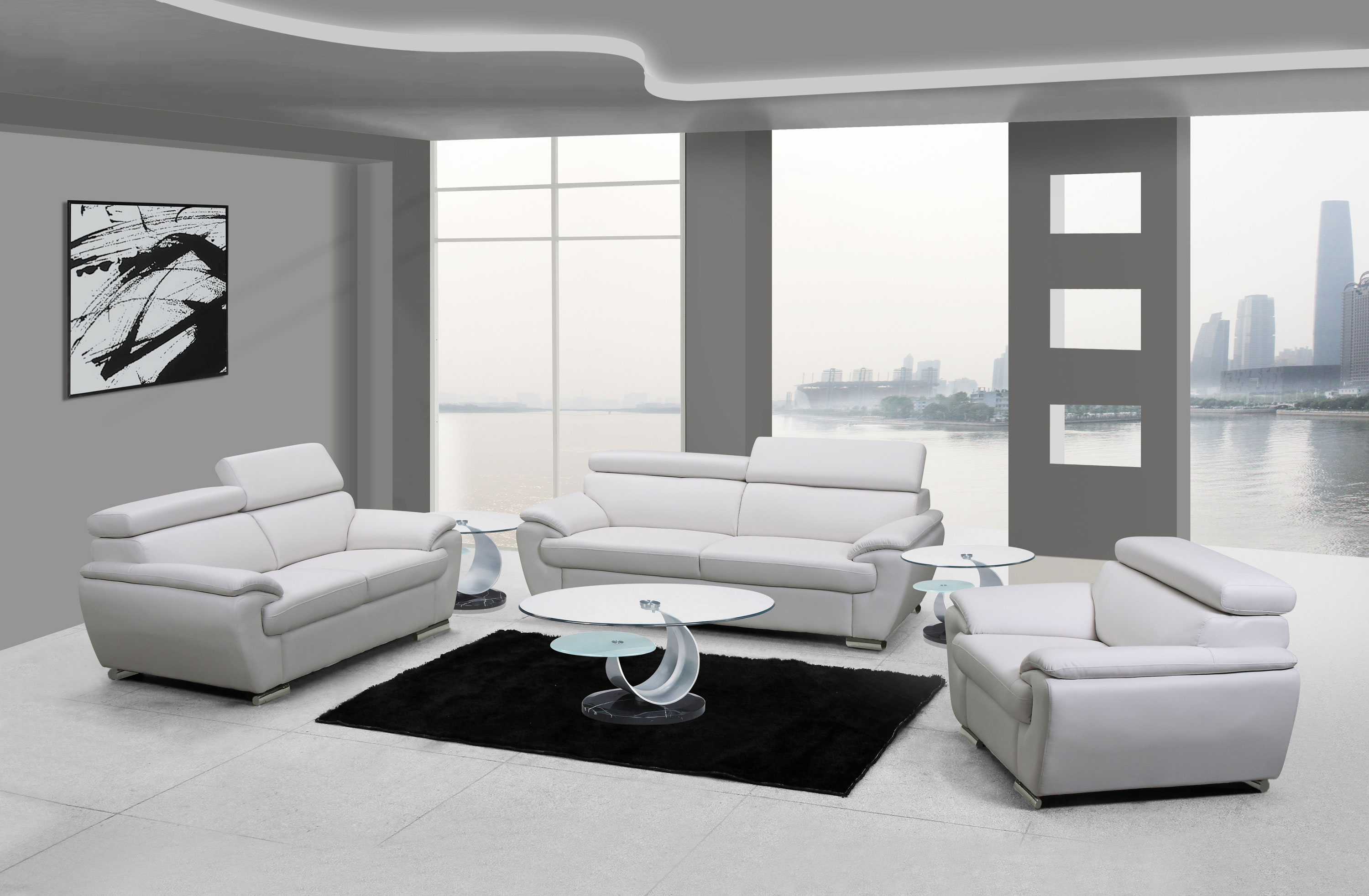 Naples White Leather Living Room within 12 Clever Designs of How to Improve White Leather Living Room Sets